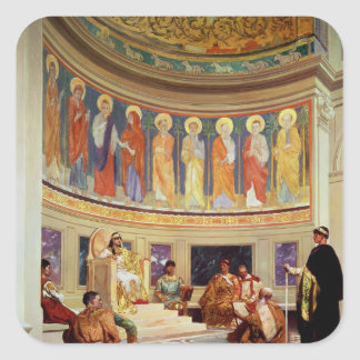 St John Chrysostom  exiled by Empress Eudoxia Square Sticker