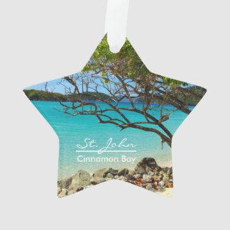 St John Cinnamon Bay Beach Round Ornament