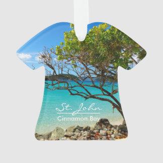 St John Cinnamon Bay Beach Shirt Ornament