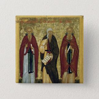 St. John Climacus  St. John of Damascus 15 Cm Square Badge
