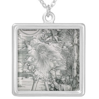 St. John Devouring the Book Silver Plated Necklace