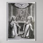 St. John of the Cross and St. Theresa of Avila Poster