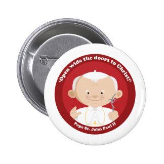St John Paul II 6 Cm Round Badge