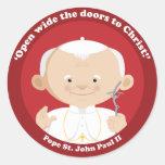 St John Paul II Round Stickers
