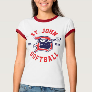 St. John Red Ringer - Women's T Shirts