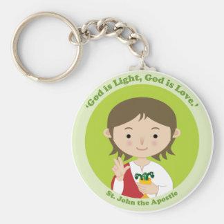 St. John the Apostle Basic Round Button Key Ring