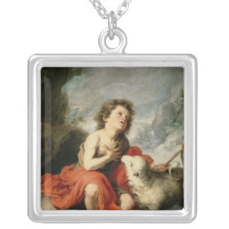 St. John the Baptist as a Child, c.1665 Silver Plated Necklace