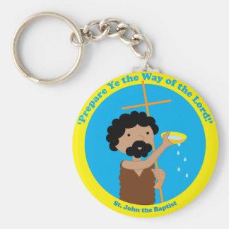 St. John the Baptist Basic Round Button Key Ring
