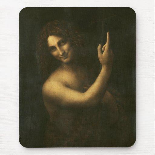 St John the Baptist by Leonardo da Vinci Mouse Pad