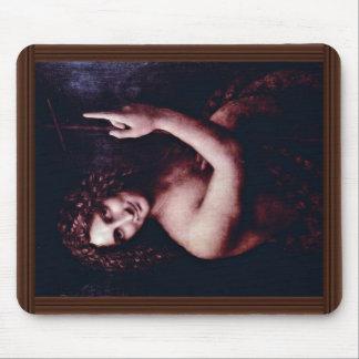 St. John The Baptist By Leonardo Da Vinci Mouse Pad