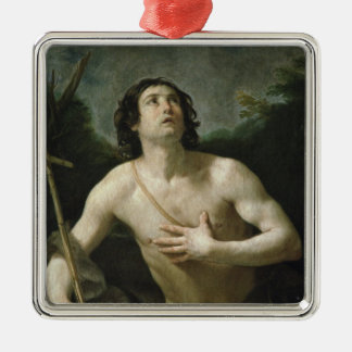 St. John the Baptist, c.1635-40 Silver-Colored Square Decoration