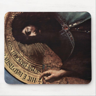 St. John The Baptist Enthroned Detail By Eyck Hube Mouse Pad