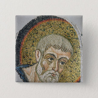 St. John the Baptist: Fragment of a mosaic 15 Cm Square Badge