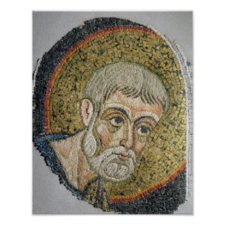 St. John the Baptist: Fragment of a mosaic Poster
