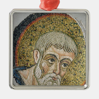 St. John the Baptist: Fragment of a mosaic Silver-Colored Square Decoration