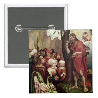 St. John the Baptist Preaching Before Herod 15 Cm Square Badge