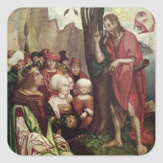 St. John the Baptist Preaching Before Herod Square Sticker