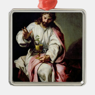 St. John the Evangelist and the Poisoned Cup Christmas Ornament