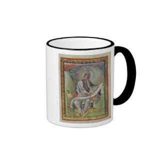 St. John the Evangelist, from the Ebbo Gospels Ringer Mug