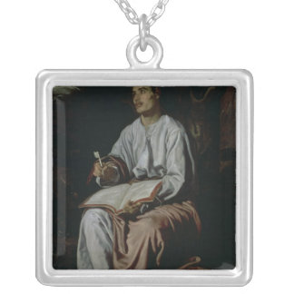St. John the Evangelist on the Island of Silver Plated Necklace