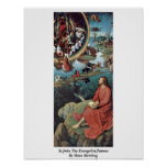 St.John The Evangelist,Patmos By Hans Memling Poster