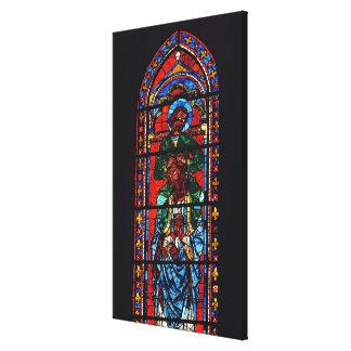St. John the Evangelist riding the shoulders of Ez Canvas Print