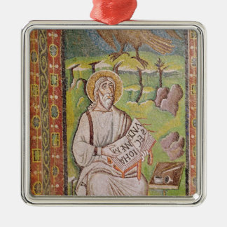 St. John the Evangelist Silver-Colored Square Decoration
