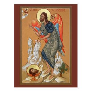 St. John the Forerunner Prayer Card Postcard
