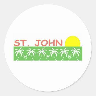 St John US Virgin Islands Round Sticker
