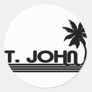 St. John, US Virgin Islands Round Stickers