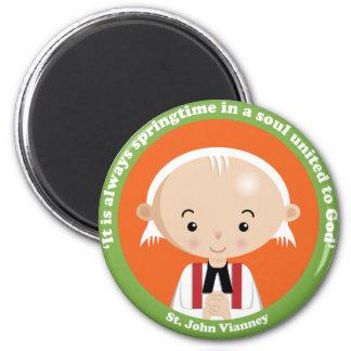St. John Vianney 6 Cm Round Magnet