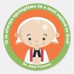 St. John Vianney Round Sticker