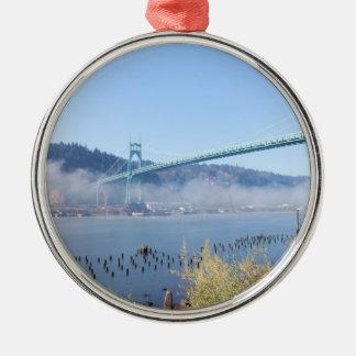 St. Johns Bridge, Beautiful Portland Oregon Christmas Ornament