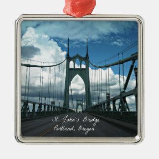 St. John's Bridge, Portland, Oregon Christmas Ornament