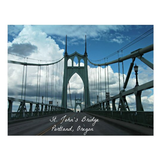 St. John's Bridge, Portland, Oregon Postcard
