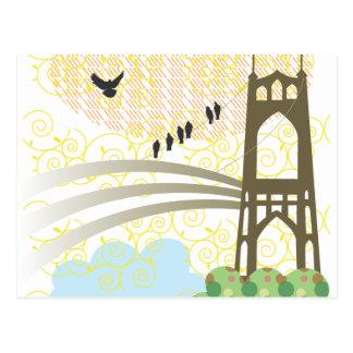 St. Johns Bridge Portland Postcard