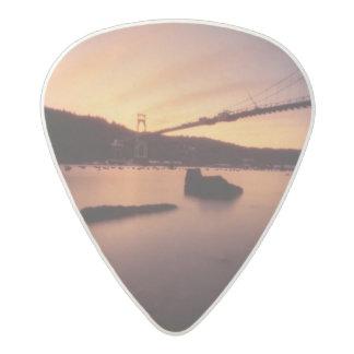 St Johns Bridge Sunset Acetal Guitar Pick