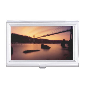 St Johns Bridge Sunset Business Card Holder