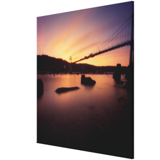 St Johns Bridge Sunset Canvas Print