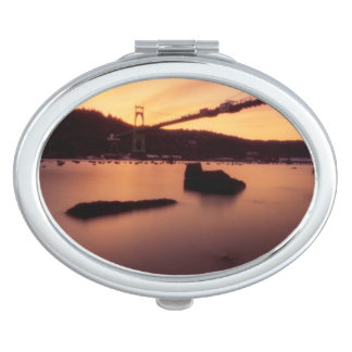 St Johns Bridge Sunset Compact Mirror
