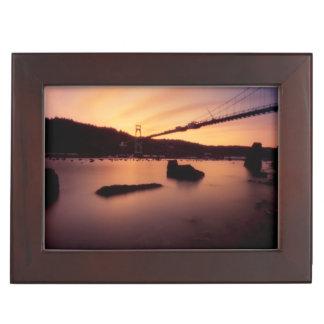 St Johns Bridge Sunset Keepsake Box