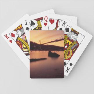 St Johns Bridge Sunset Playing Cards