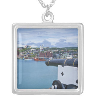 St. John's, Newfoundland, Canada, the waterfront Silver Plated Necklace
