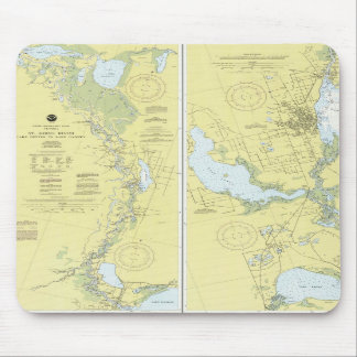 St. Johns River, Florida Nautical Chart Mouse Pad