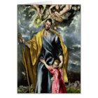 St. Joseph and the Christ Child, 1597-99 Card