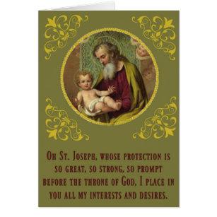 Saint joseph feast day cards invitations zazzle st joseph baby jesus feast novena day m4hsunfo