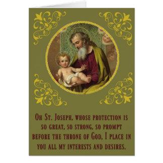 St. Joseph Baby Jesus Feast Novena Day Card