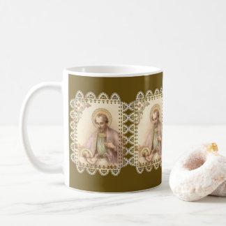 St. Joseph Baby Jesus Lace Coffee Mug