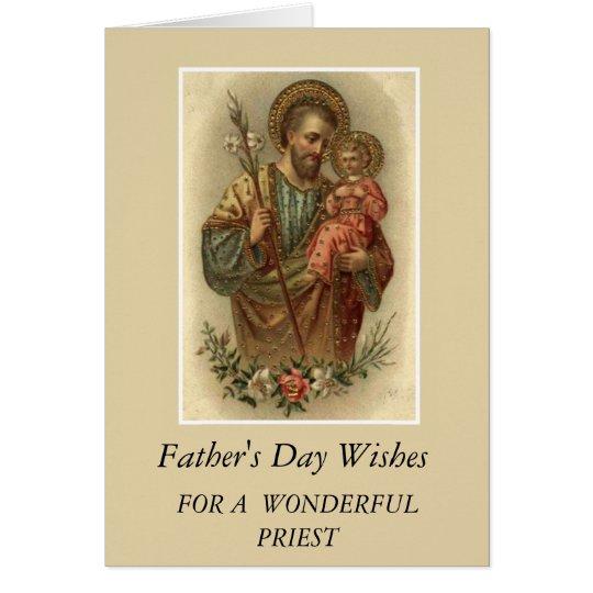 St. Joseph & Child Jesus Father's Day Priest