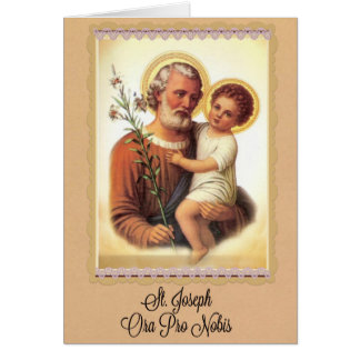 St. Joseph Feast Day Card